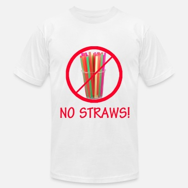 Straw No Straws - Men's  Jersey T-Shirt