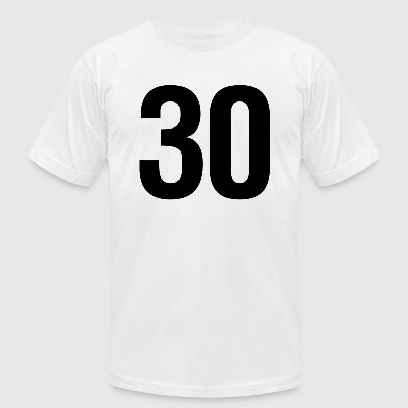helvetica number 30 - Men's Fine Jersey T-Shirt