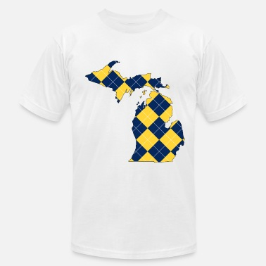 Argyle Michigan Plaid.png - Men's  Jersey T-Shirt