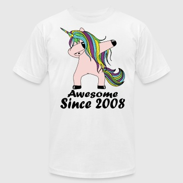 awesome since 2008 unicorn - Men's Fine Jersey T-Shirt