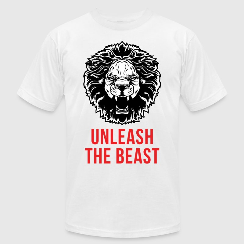 Unleash The Beast - Lion - Men's Fine Jersey T-Shirt