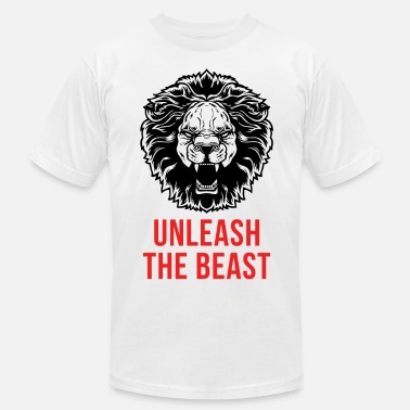 Unleash  Unleash The Beast - Lion - Men's  Jersey T-Shirt