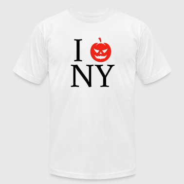 I Love Newyork Pumpkin Head I Love New York Newyork Halloween NY - Men's Fine Jersey T-Shirt