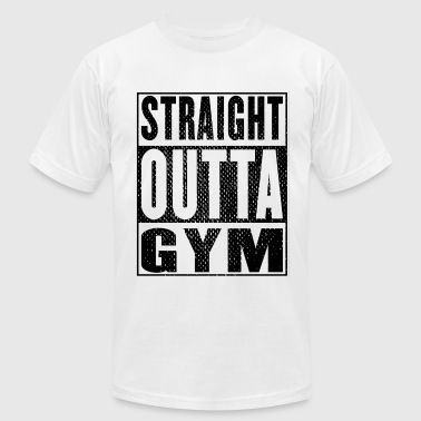 Straight Outta Gym Vintage - Men's Fine Jersey T-Shirt