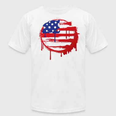 Grunge Flag - Men's Fine Jersey T-Shirt