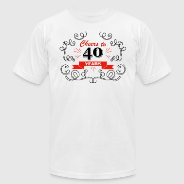 40 Years Birthday Cards Cheers to 40 years - Men's Fine Jersey T-Shirt