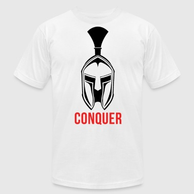 Design And Conquer Spartan - Conquer - Men's Fine Jersey T-Shirt