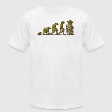 Yoda R2d2 Evolution of Yoda - Men's Fine Jersey T-Shirt