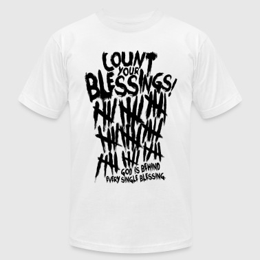 Count Your Blessing_Black 0001  - Men's Fine Jersey T-Shirt