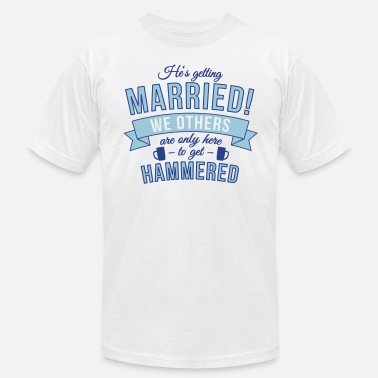 Best Man Hangover He's getting married, we others are only here to.. - Men's Fine Jersey T-Shirt
