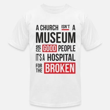 Mental Hospital Church Museum - Men's Fine Jersey T-Shirt