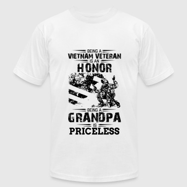 Veteran Is Being A Grandpa Being A Veteran Is An Honor But A GrandPa Is Price - Men's Fine Jersey T-Shirt