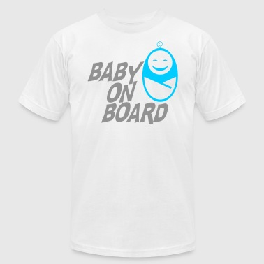 Babies On Board Baby On Board - Men's Fine Jersey T-Shirt