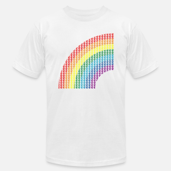 Japanese T-Shirts - Love Rainbow - Men's Jersey T-Shirt white