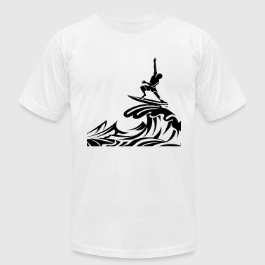 Surf Cartoon surfing - Men's Fine Jersey T-Shirt