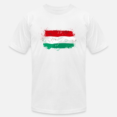 Budapest Hungary Flag - Men's Fine Jersey T-Shirt
