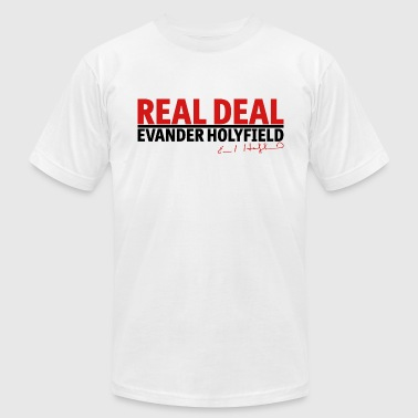 Real Deal Evander Holyfield w/ sig mp - Men's Fine Jersey T-Shirt