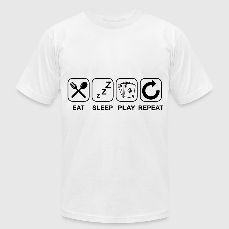 Eat Sleep Poker Repeat - Men's Fine Jersey T-Shirt