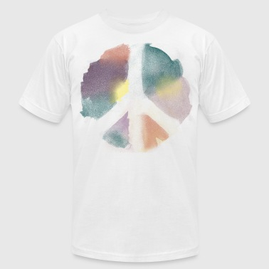 Watercolor Peace - Men's Fine Jersey T-Shirt