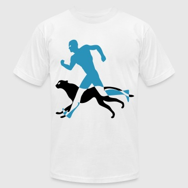 running with cheetah - Men's Fine Jersey T-Shirt