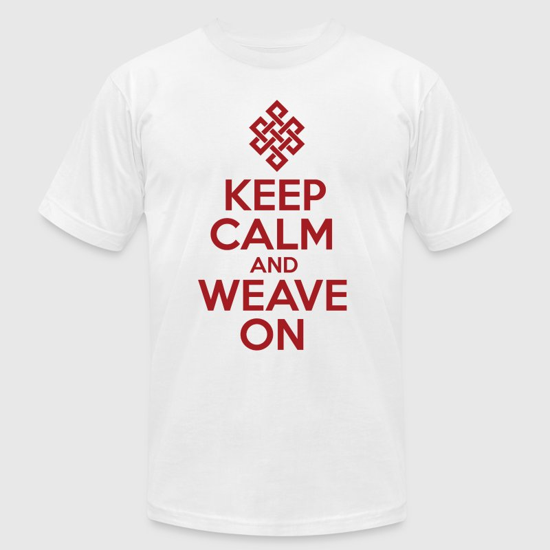 Keep Calm and Weave On - Men's Fine Jersey T-Shirt