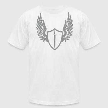 Cool warrior shield with wings - Men's Fine Jersey T-Shirt