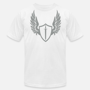 Cool Wings Cool warrior shield with wings - Men's Fine Jersey T-Shirt
