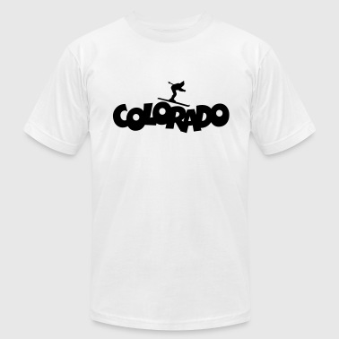 Colorado Skiing - Men's Fine Jersey T-Shirt