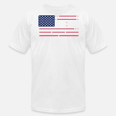 Morse Code Morse Code Freedom American Flag - Men's Fine Jersey T-Shirt