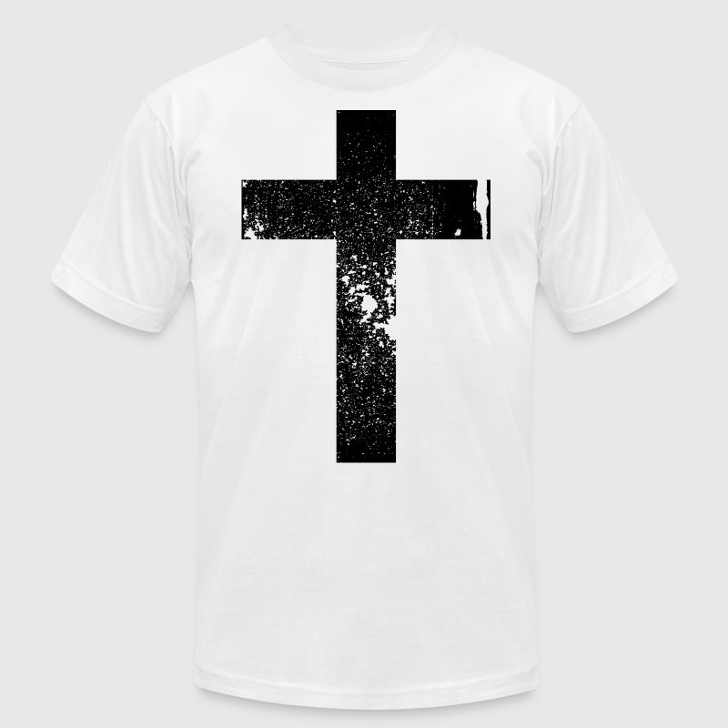 Cross Grunge Vintage Style Black - Men's Fine Jersey T-Shirt