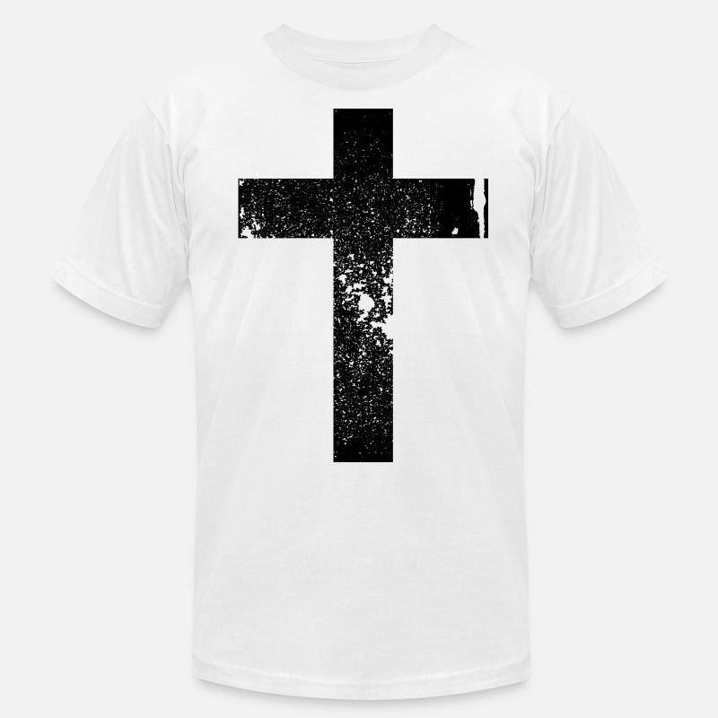 Art T-Shirts - Cross Grunge Vintage Style Black - Men's Jersey T-Shirt white
