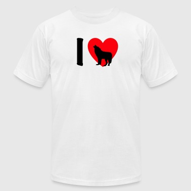 I Love Wolves I love Wolves - Men's Fine Jersey T-Shirt