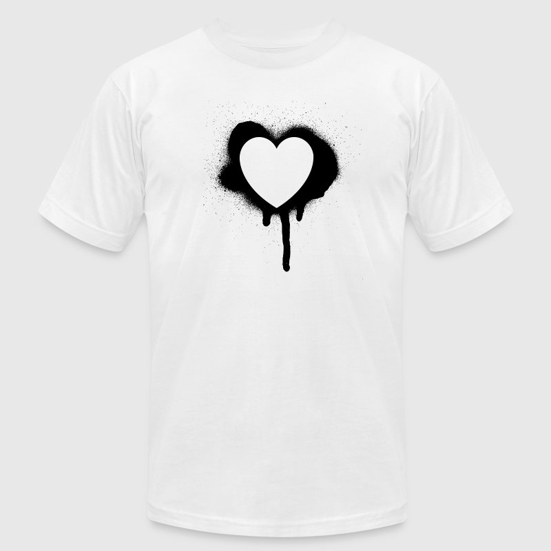 graffiti valentine's day heart - Men's Fine Jersey T-Shirt