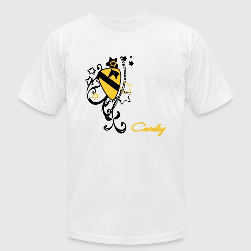 Cavalry patch yellow - Men's Fine Jersey T-Shirt