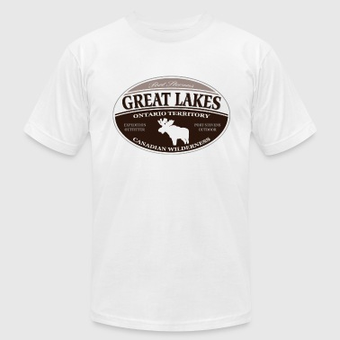 Great  Lakes moose - Men's Fine Jersey T-Shirt