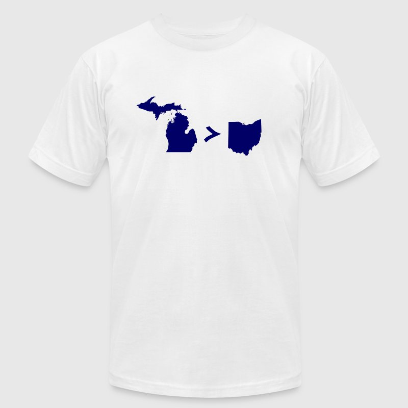 Funny Michigan Greater Than Ohio - Men's Fine Jersey T-Shirt