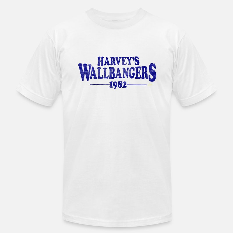 Funny Wisconsin T-shirts T-Shirts - Harvey Wallbanger's Milwaukee 1982 - Men's Jersey T-Shirt white