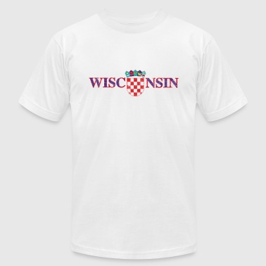 Tank Croatia Wisconsin Croatian Croatia Flag - Men's Fine Jersey T-Shirt