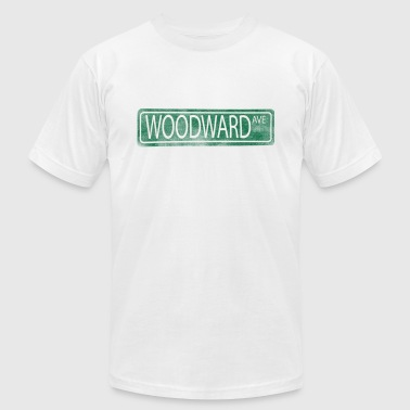 Woodward Avenue Detroit M1 - Men's Fine Jersey T-Shirt