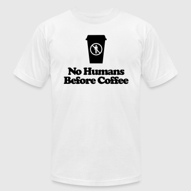 Men's Humor No Humans Before Coffee - Men's Fine Jersey T-Shirt