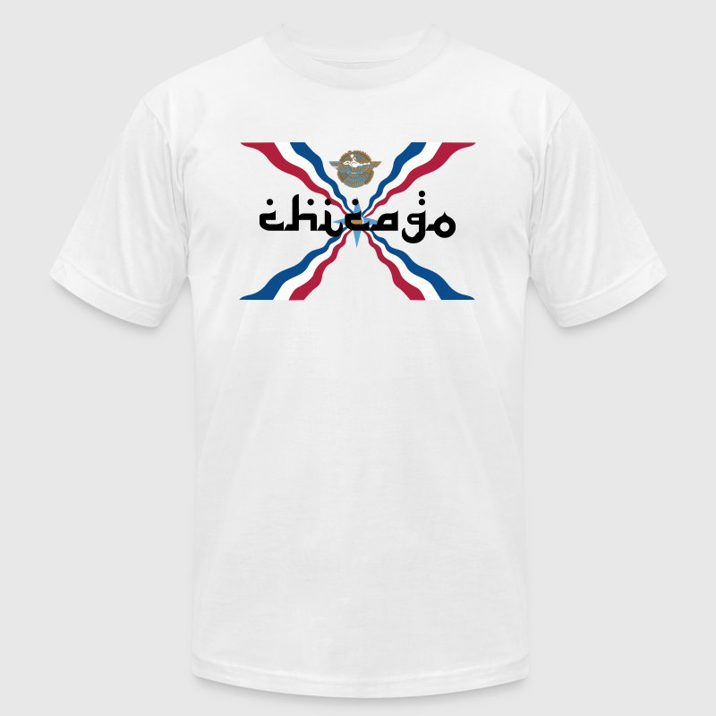 Assyrian Chicago Pride Flag Nationality Shirt Tees - Men's Fine Jersey T-Shirt