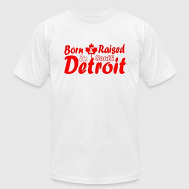 South Detroit South Detroit Raised Canada  - Men's Fine Jersey T-Shirt