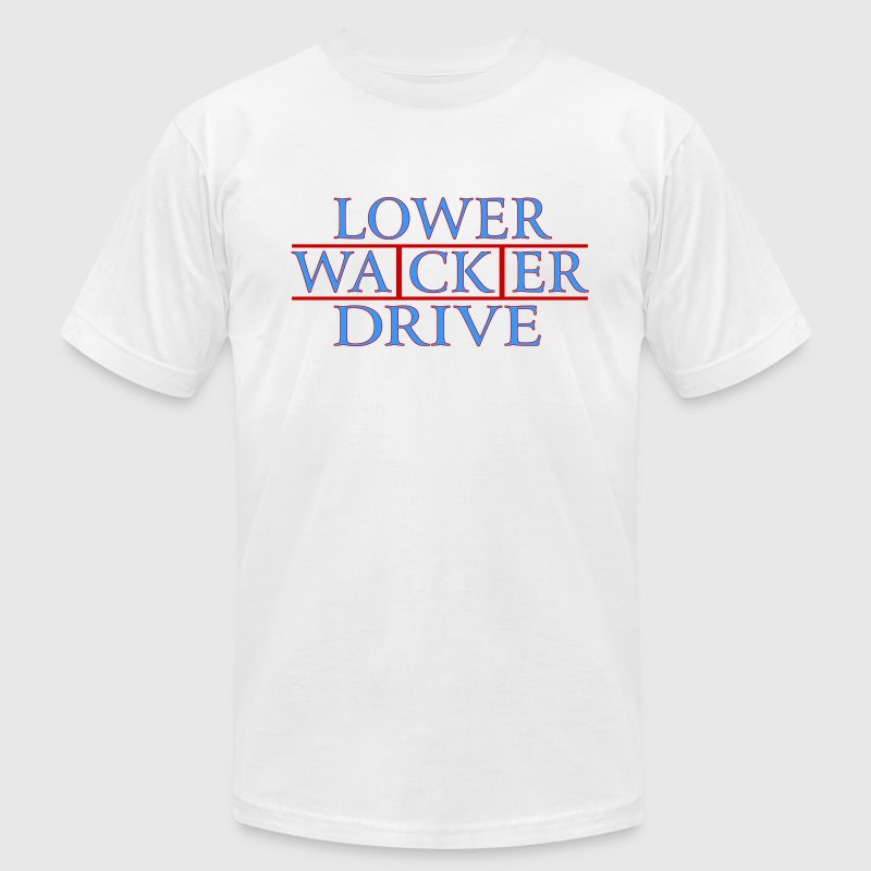 Lower Wacker Drive Chicago Streets - Men's Fine Jersey T-Shirt