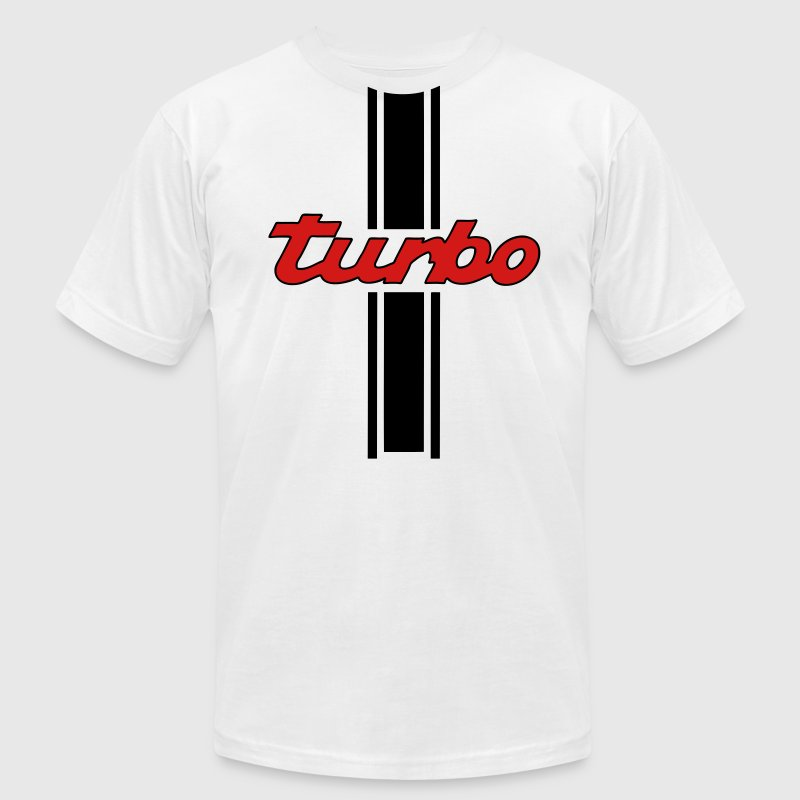 turbo stripes t-shirt - Men's Fine Jersey T-Shirt
