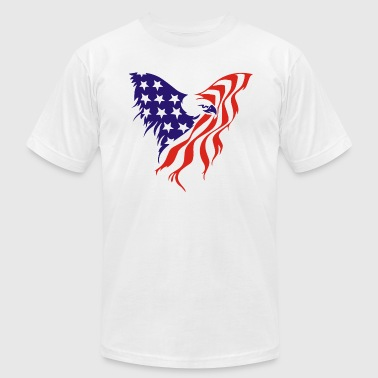 American flag eagle - Men's Fine Jersey T-Shirt