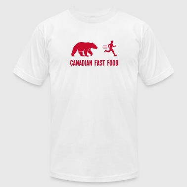 Canadian Parody Canadian Fast Food T Shirt - Men's Fine Jersey T-Shirt