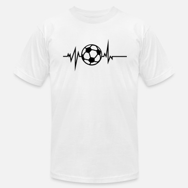 Heart Curve soccer curved path heart beat - Men's  Jersey T-Shirt