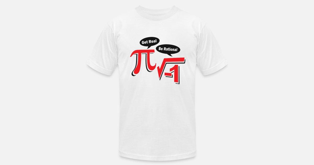 1f6a3e1b3c0e Get Real Be Rational Men's Jersey T-Shirt   Spreadshirt