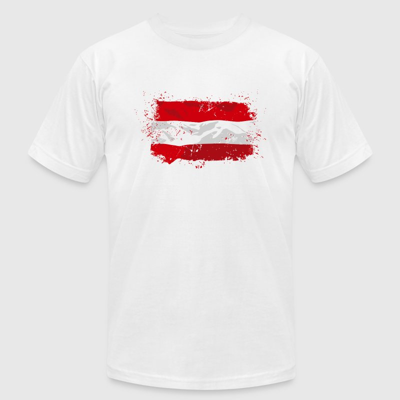 Austria Flag - Men's Fine Jersey T-Shirt