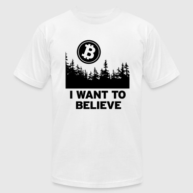 I Want to Believe ... in Bitcoin - Black - Men's Fine Jersey T-Shirt